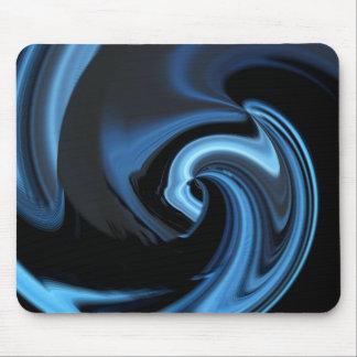 Blue Abstract Heart Mousepad