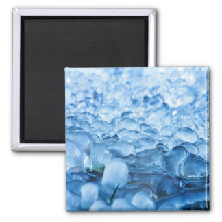 Blue Abstract Ice Crystals Water Drops Magnet