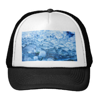 Blue Abstract Ice Crystals Water Drops Trucker Hat