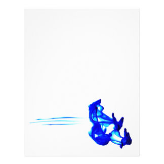 Blue Abstract Ink Drop Macro Photography Letterhead