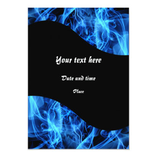 Blue Abstract 5x7 Paper Invitation Card