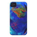 Blue Abstract iPhone 4 Case-Mate Cases