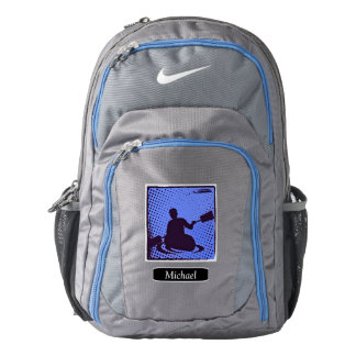 Blue Abstract Kayak Personalized Backpack