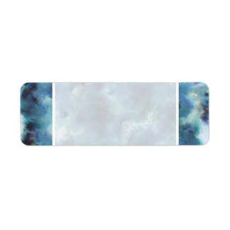Blue Abstract. Label