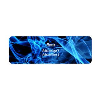 Blue Abstract Return Address Label