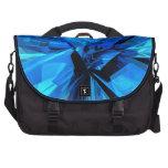 Blue Abstract Laptop Commuter Bag