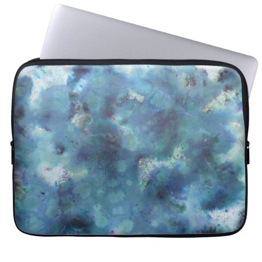 Blue Abstract. Laptop Computer Sleeves