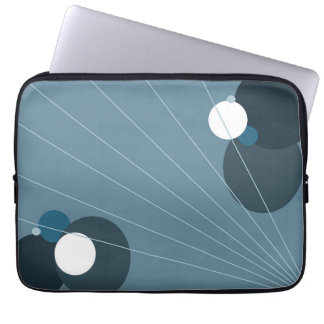 Blue Abstract Laptop Computer Sleeves