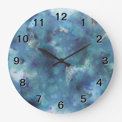 Blue Abstract. Large Clock
