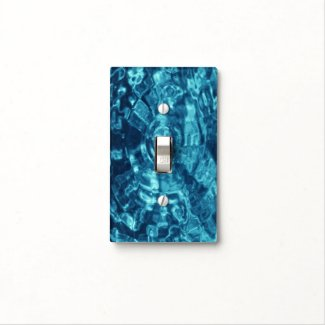 Blue Abstract Light Switch Cover