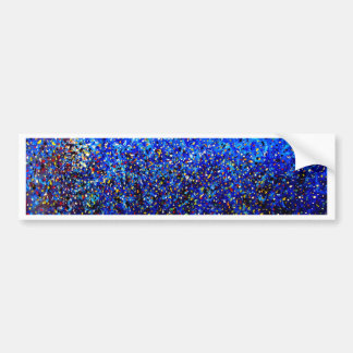 Blue Abstract Lighthouse Paint Splatter Painting Bumper Stickers