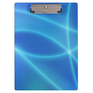 Blue Abstract Lines Clipboard