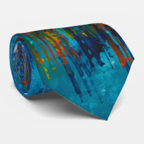 Blue Abstract Luxury Tie