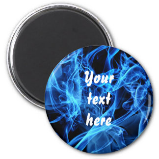 Blue Abstract 2 Inch Round Magnet