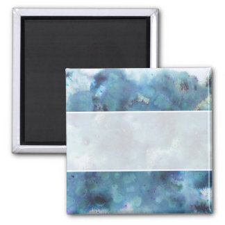 Blue Abstract. 2 Inch Square Magnet