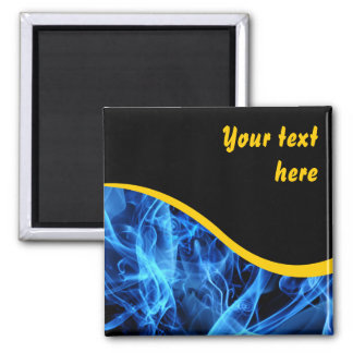 Blue Abstract 2 Inch Square Magnet