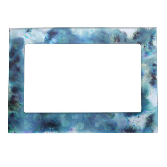 Blue Abstract. Magnetic Photo Frame