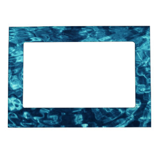 Blue Abstract Magnetic Photo Frame