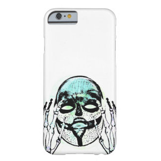 Blue Abstract Mask Phone Cover