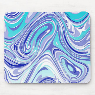 blue abstract mess mouse pad