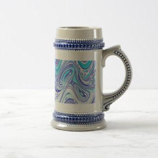 blue abstract mess mugs