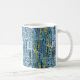 Blue Abstract Mixed Media Art Mug