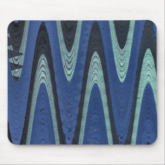 Blue abstract mouse pad