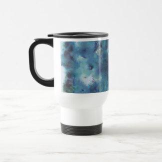 Blue Abstract. Coffee Mugs