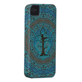 Blue Abstract Old Withered Tree Case-Mate iPhone 4 Case