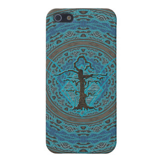Blue Abstract Old Withered Tree iPhone SE/5/5s Cover