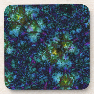 Blue Abstract Paint Explosion Drink Coaster