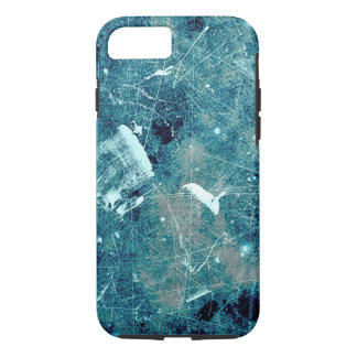 Blue abstract paint grunge style digital art iPhone 7 case