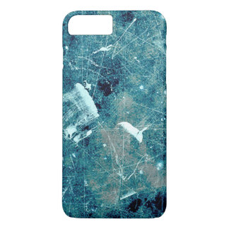 Blue abstract paint grunge style digital art iPhone 7 plus case