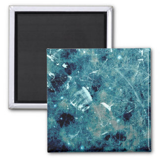 Blue abstract paint grunge style digital art magnet