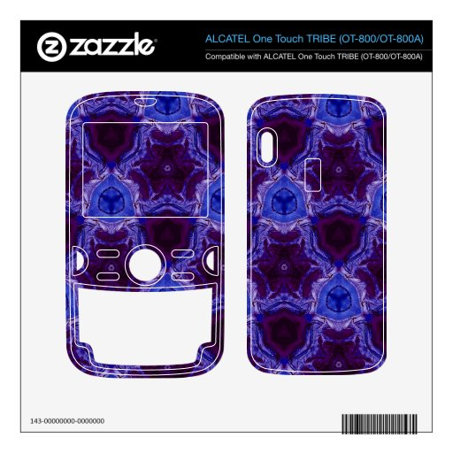 Blue abstract pattern ALCATEL tribe skin