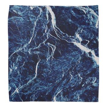 tianxinzheng Blue Abstract Pattern Bandana