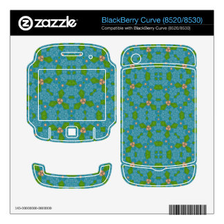 Blue Abstract Pattern BlackBerry Curve Skin