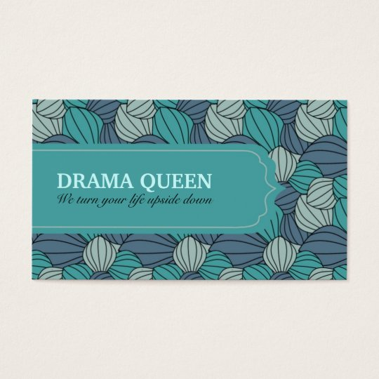 Blue Abstract Pattern Business Card