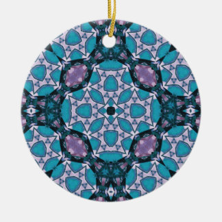 Blue Abstract Pattern Christmas Tree Ornaments