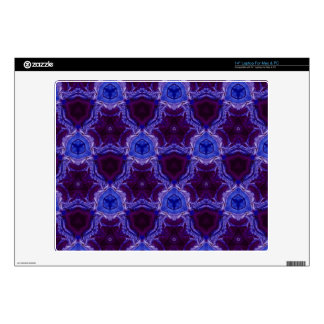 "Blue abstract pattern decal for 14"" laptop"