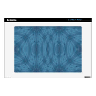 Blue abstract pattern decal for laptop