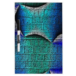 Blue Abstract Pattern Dry-Erase Whiteboards