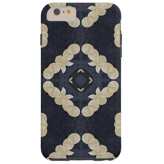 blue abstract pattern geometric quatrefoil yoga tough iPhone 6 plus case