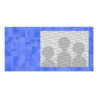 Blue Abstract Pattern. Photo Card