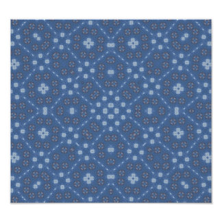 Blue Abstract Pattern Photograph