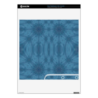 Blue abstract pattern PS3 slim skin