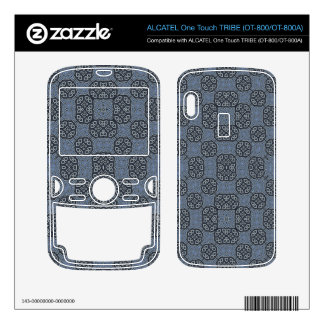 Blue Abstract Pattern ALCATEL Tribe Skins