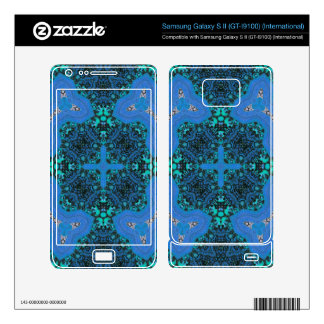 Blue Abstract Pattern Samsung Galaxy S II Decal