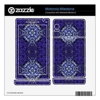 Blue abstract pattern motorola milestone decal