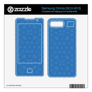 Blue abstract pattern skins for samsung omnia